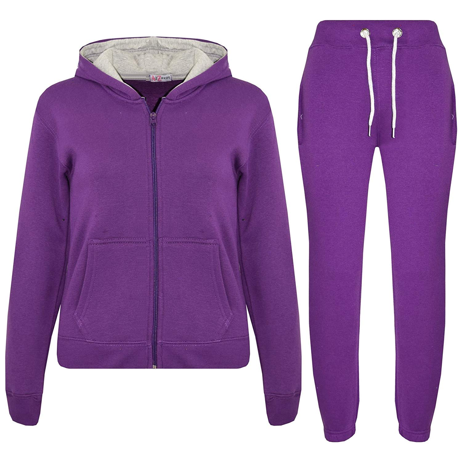A2Z 4 Kids® Kids Tracksuit Girls Boys Fleece Hooded Hoodie Bottom Jogging Suit Jogger 5-13Yr