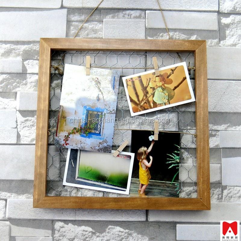 Wand decor shabby chic moderne wohnkultur Holz Fotowand Set-Frame ...