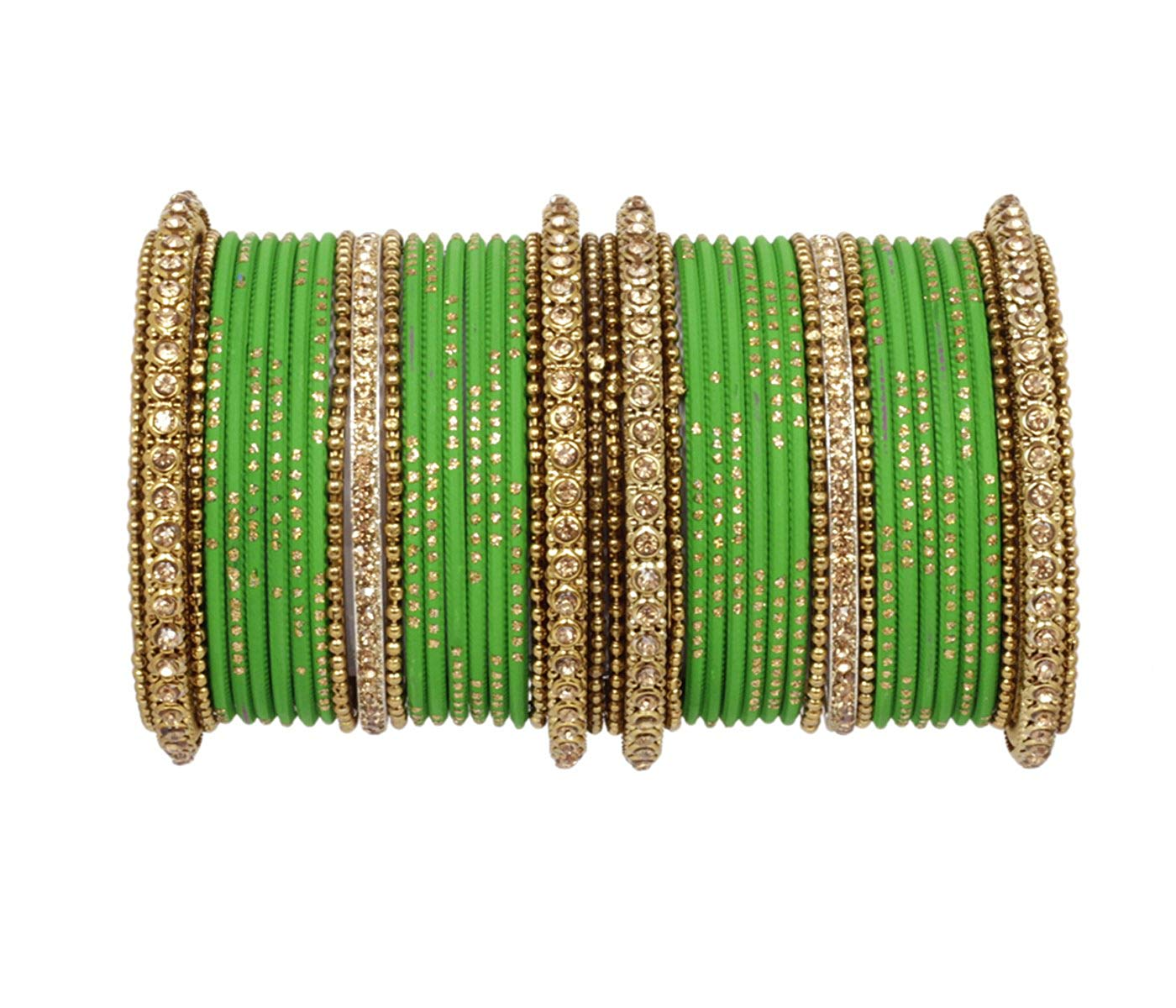 Orange Color Indian Bollywood Fashion Party Wear Metal Bangles Chudi Jewelry