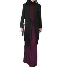 Exquisite workmanship coat abaya
