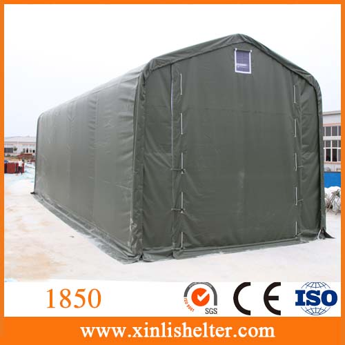 Waterproof shed galvanized fabric covered buildings