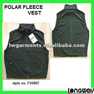 FULL ZIPPER MICRO FOLAR FLEECE VEST / POLYSTER POLAR FLEECE WAISTCOAT VEST FOR MENS