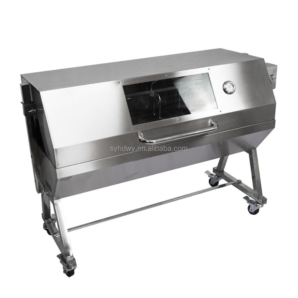 Heavy Duty Large Window Charcoal Lamb Pig Rotisserie Spit
