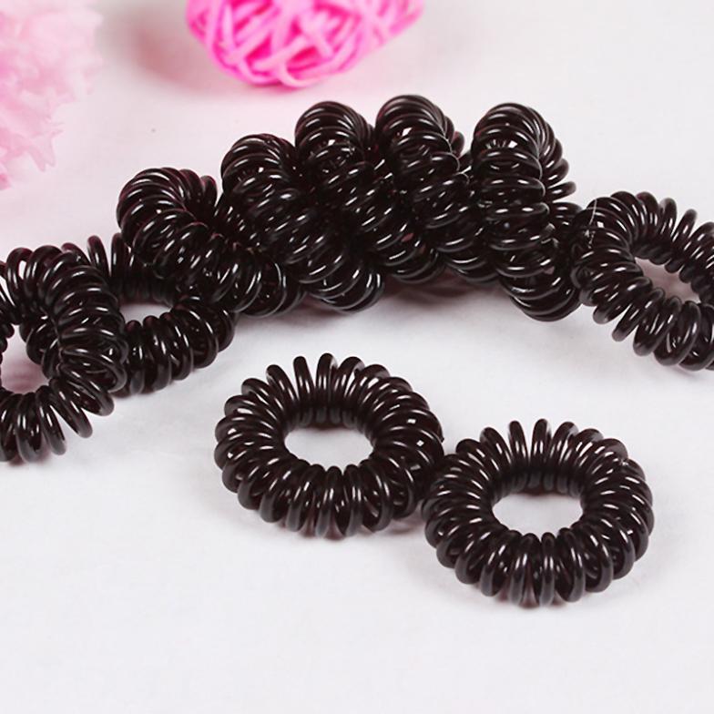 10 шт. multi-цвет черный леди эластичной резины волос галстуки группа веревка хвост держатель ZH197