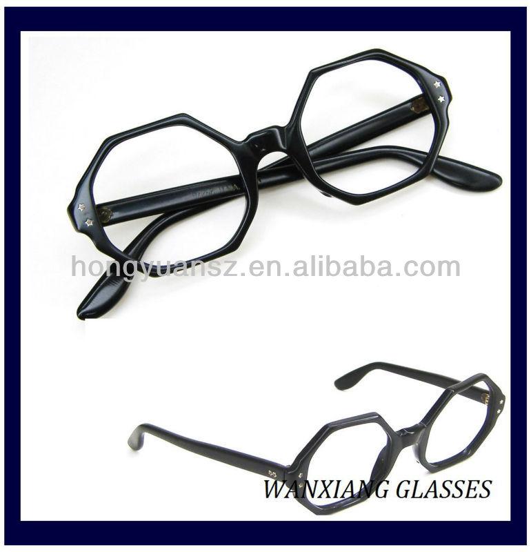 Vintage 60s Black Octagon Eyeglasses Frame Jeweled - Buy Vintage 60s ...