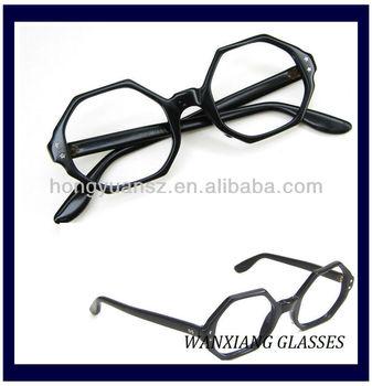 a96118f68d Vintage 60s Black Octagon Eyeglasses Frame Jeweled - Buy Vintage 60s ...
