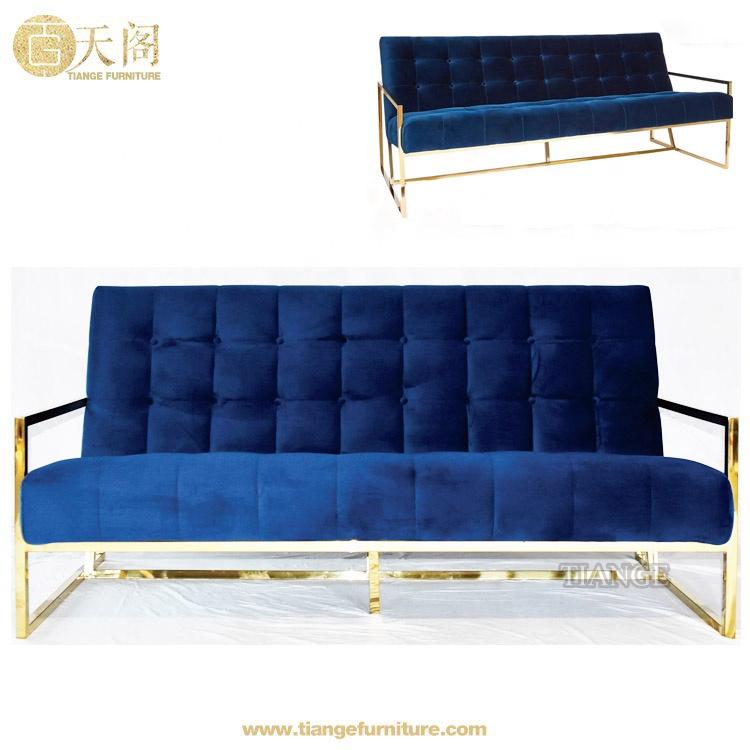 Contemporary Modern Furniture Gold Leaf Jonathan Adler Goldfinger Velvet  Sofa With Arms - Buy Jonathan Adler Goldfinger Sofa,Gold Leaf Sofa,Velvet  ...