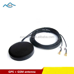 Factory price high gain 28dbi Active Magnet gps gsm combo round antenna