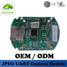 UART port JPEG 0.3mp serial camera module with TF card slot