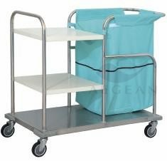 AG-SS018 metal frame for hospital dressing trolley hospital cleaning trolleys