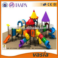 OEM design CE standard outdoor playground decorations with plastic slide