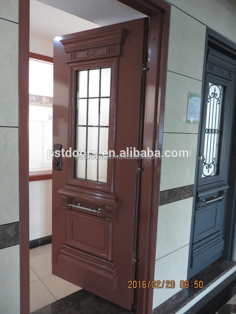 Double Door Exterior Steel Raised Panel Prehung Exterior Steel