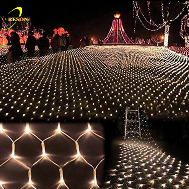 Outdoor Festival Led Fairy String Mesh Net Lights For Christmas Banquet Decoration Light Bushes Decorative