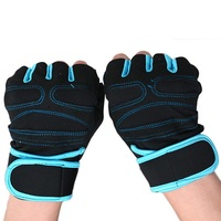 Black Fitness Gym Weight Lifting Gloves For Body Building