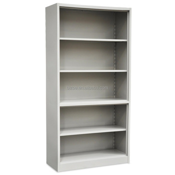 Steel Storage Cabinet Without Door Metal Open Bookcase For Office