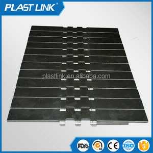 PlastLink Straight running rubber flat top steel chain for bottle transport