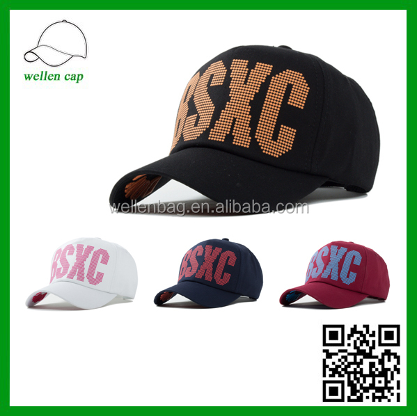 Men and women fashion sports hats, Korean Harajuku style adhesive spots print alphabet baseball cap