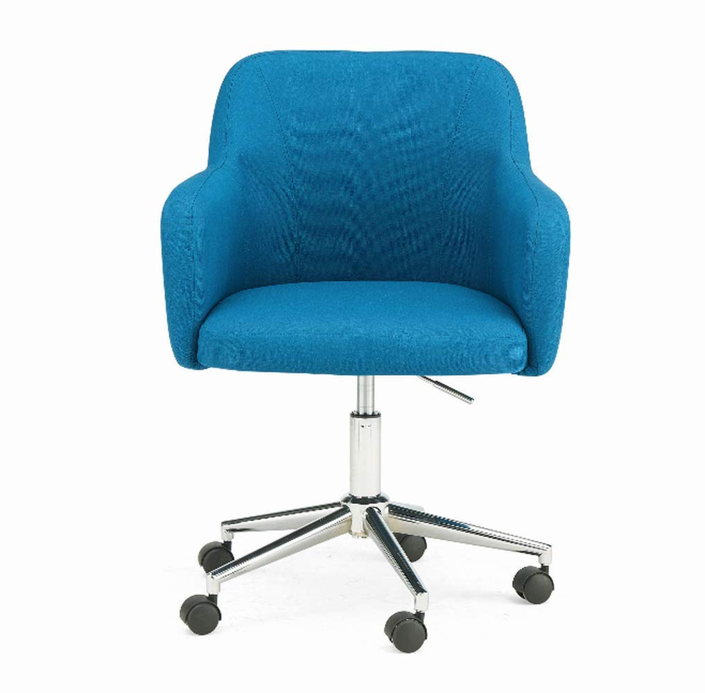 Huge Comfy Chair, Blue Color, Durable and High Resistant Construction, Lightweight, Attractive and Modern, Easy Setup, Steel Frame, Armrests, 5 Wheels, Low Maintenance & E-Book