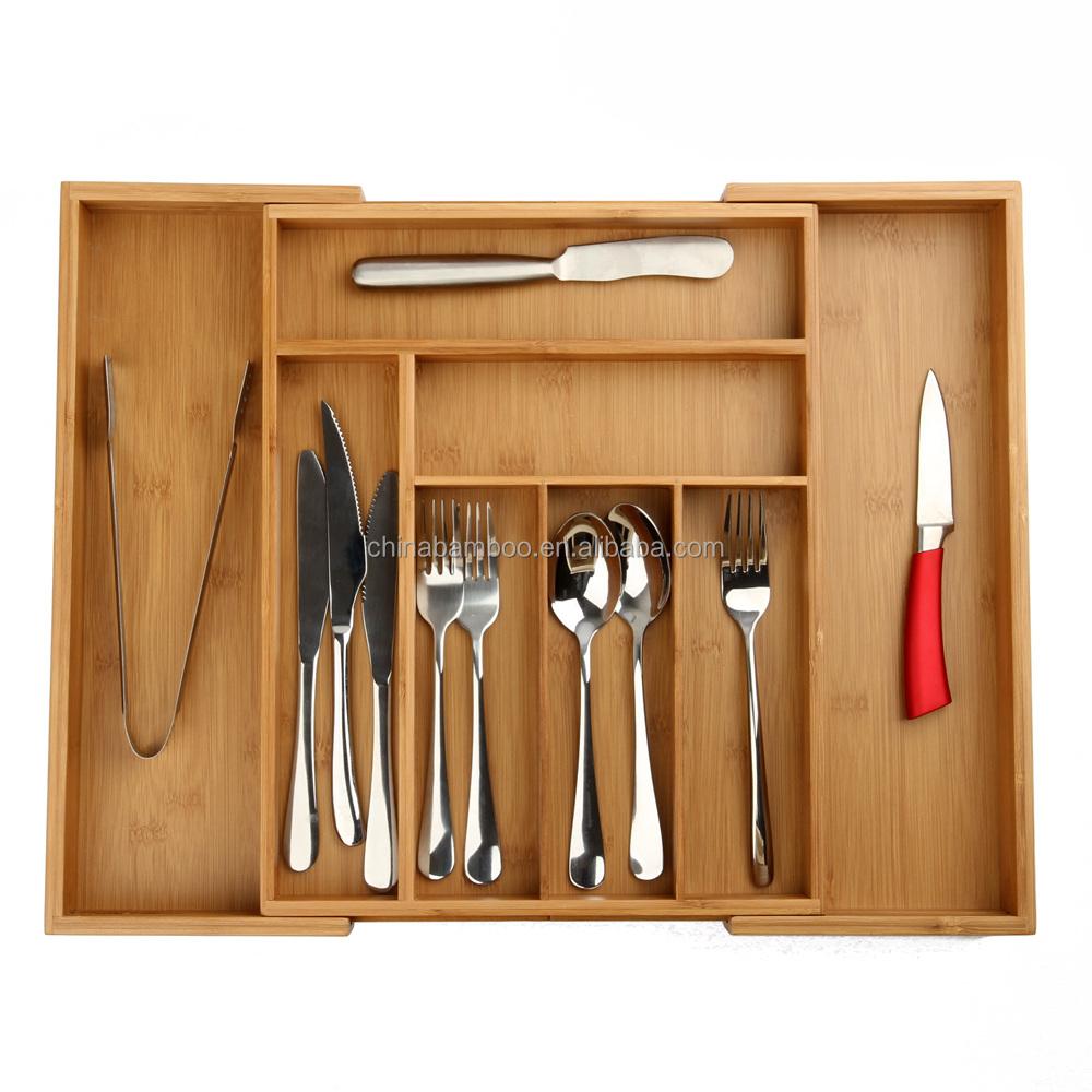 kitchen drawer organizer bamboo