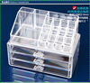 Professional acrylic beauty cosmetic case with 3 drawers