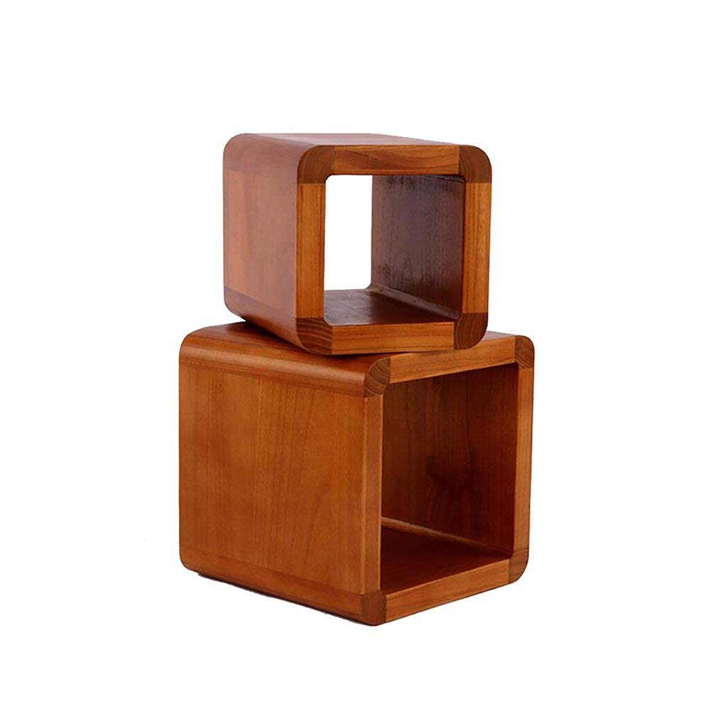 AIDELAI Stool chair Parent-child Stool Chair Japanese Home Creative Wood Coffee Table Small Round Stools Changing His Shoes Stool Stool Children Stool Chair Saddle Seat (Size : S+m)
