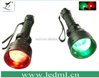 ML-BZ01 Tactical 300LM Hunting Flashlight Torch Zoom 18650 +5mw Green Red Laser