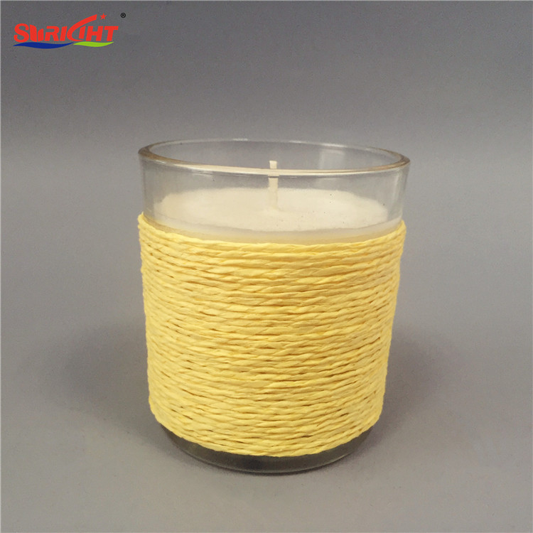 Promotional Gift Recycled Glass Vanilla Scent Soy Wax Candles