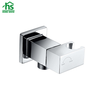 High Quality Bathroom Accessories Square Brass Shower Elbow with Adjustable Handshower Holder