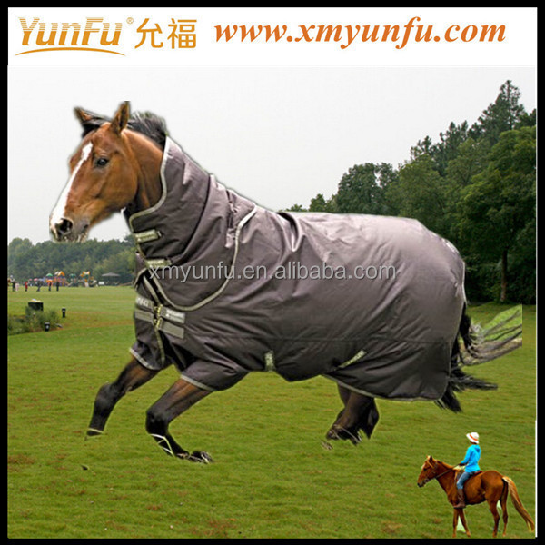Fashion turnout horse blankets;winter horse blankets;black horse blankets with red PP webbing