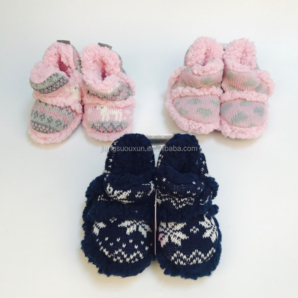 Stock cute warm baby and children cheap price home slipper socks