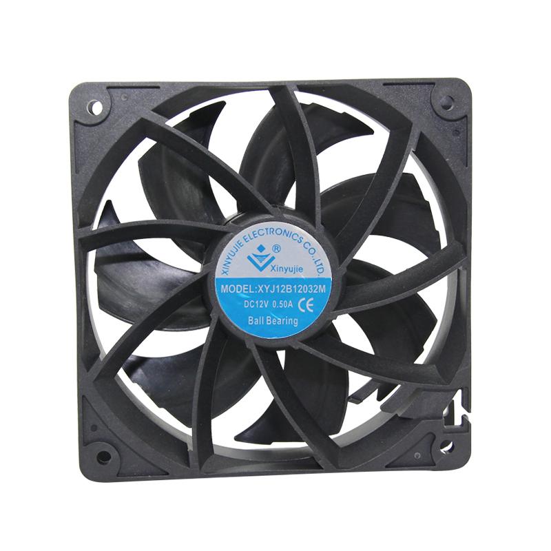 ハード帽子 dc モータの冷却ファン 120X120X32 ミリメートル 4500RPM 0.30A 排気防塵ファン
