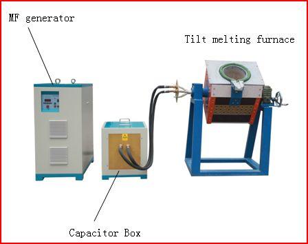 45KW energiebesparing gietijzeren inductie smeltoven te koop