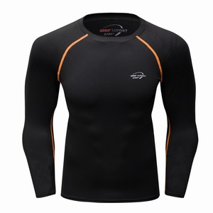 Custom Long Sleeve Fitness Gym Clothes Mens Blank Compression Running Shirts