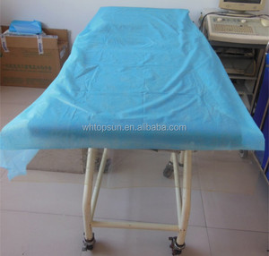 Disposable Medical Woodpulp Paper bed sheet in roll with perforation for hospital/spa beauty /clinic/hotel with free samples