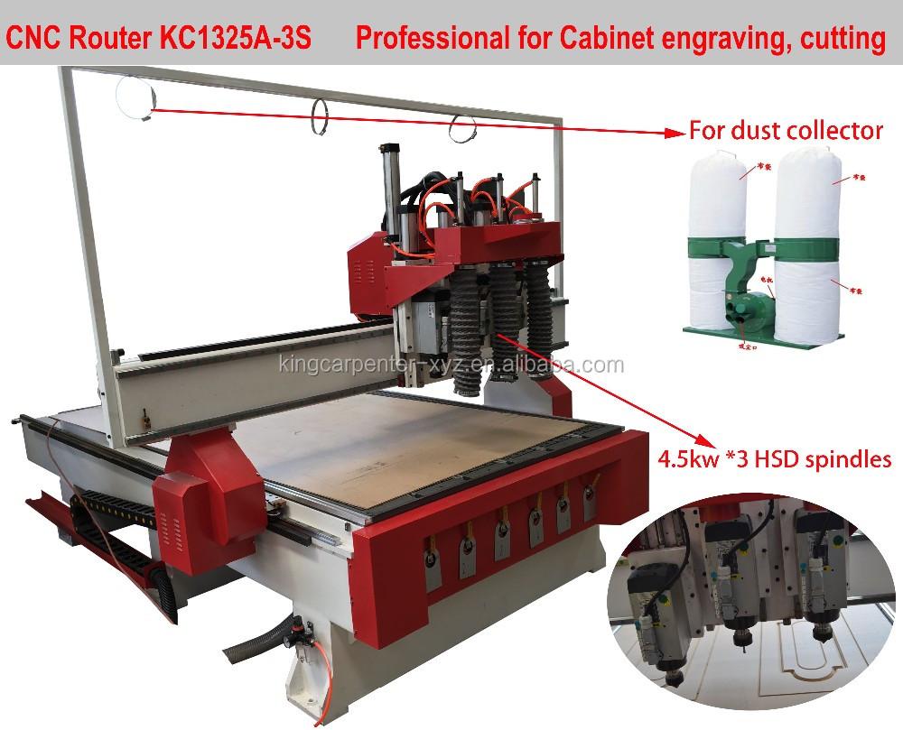 Wood Carving Cnc Router Kc1325 Woodworking Machine Cnc