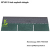 Bituminous asphalt shingles /3-tab asphalt roof shingle /colorful fiberglass asphalt shingle