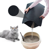 Honeycomb Double Layer Cat Litter Trapping Mat,Waterproof Urine Proof Trapper Mat for Litter box,Easy Clean mat