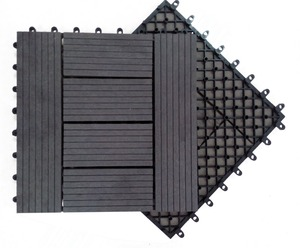 low price WPC DIY board decking tile (WPC) decking/flooring tile easy install