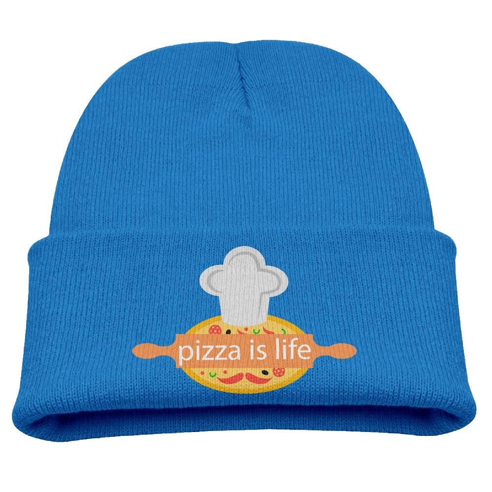 b7ff6deade963a Get Quotations · BABY CAP X Pizza Is Life Baby's Beanie Cute Skull Cap