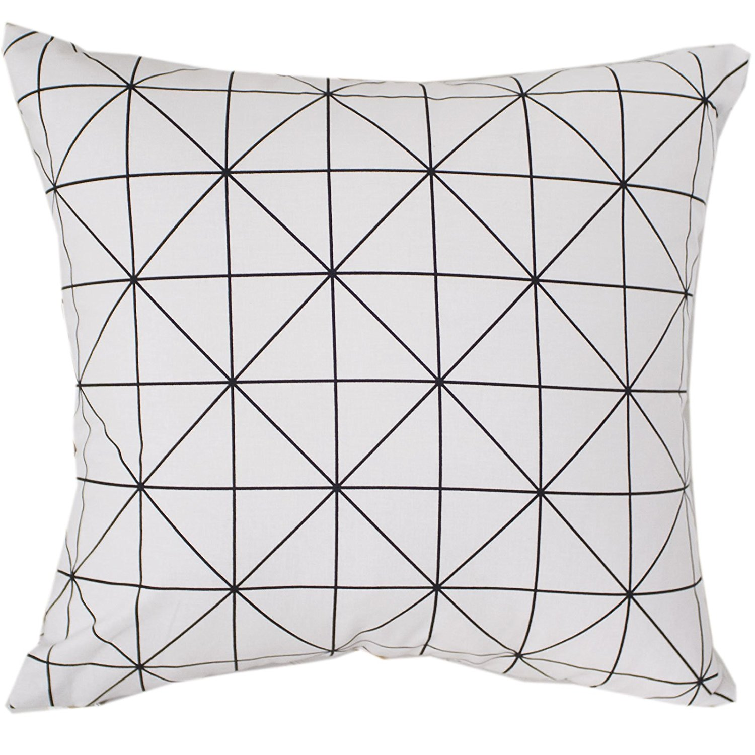 """Evei Square Pattern Gray Color Cotton Home Decorative Throw Pillow Case / Cushion Cover Square 16"""" 18"""" 20"""" Choice (20""""x20""""inch(50x50cm))"""