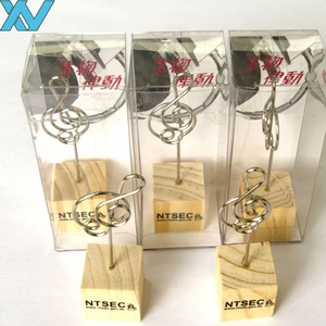 music note shaped stand memo photo clip with wire card holder wooden memo clip
