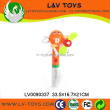 Hot-selling promotion plastic fan candy toy for kids