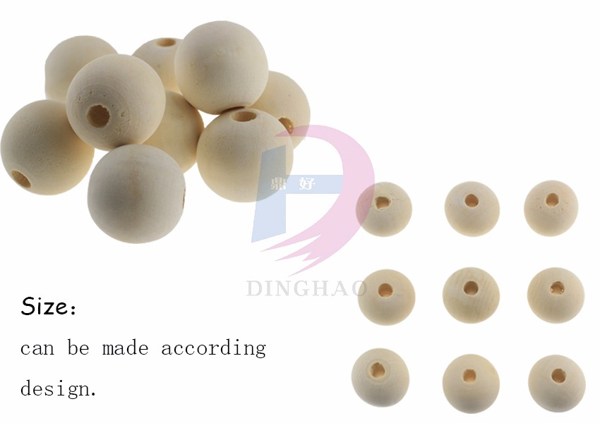 High Quality Lotus Natural Wood Bead With Hole