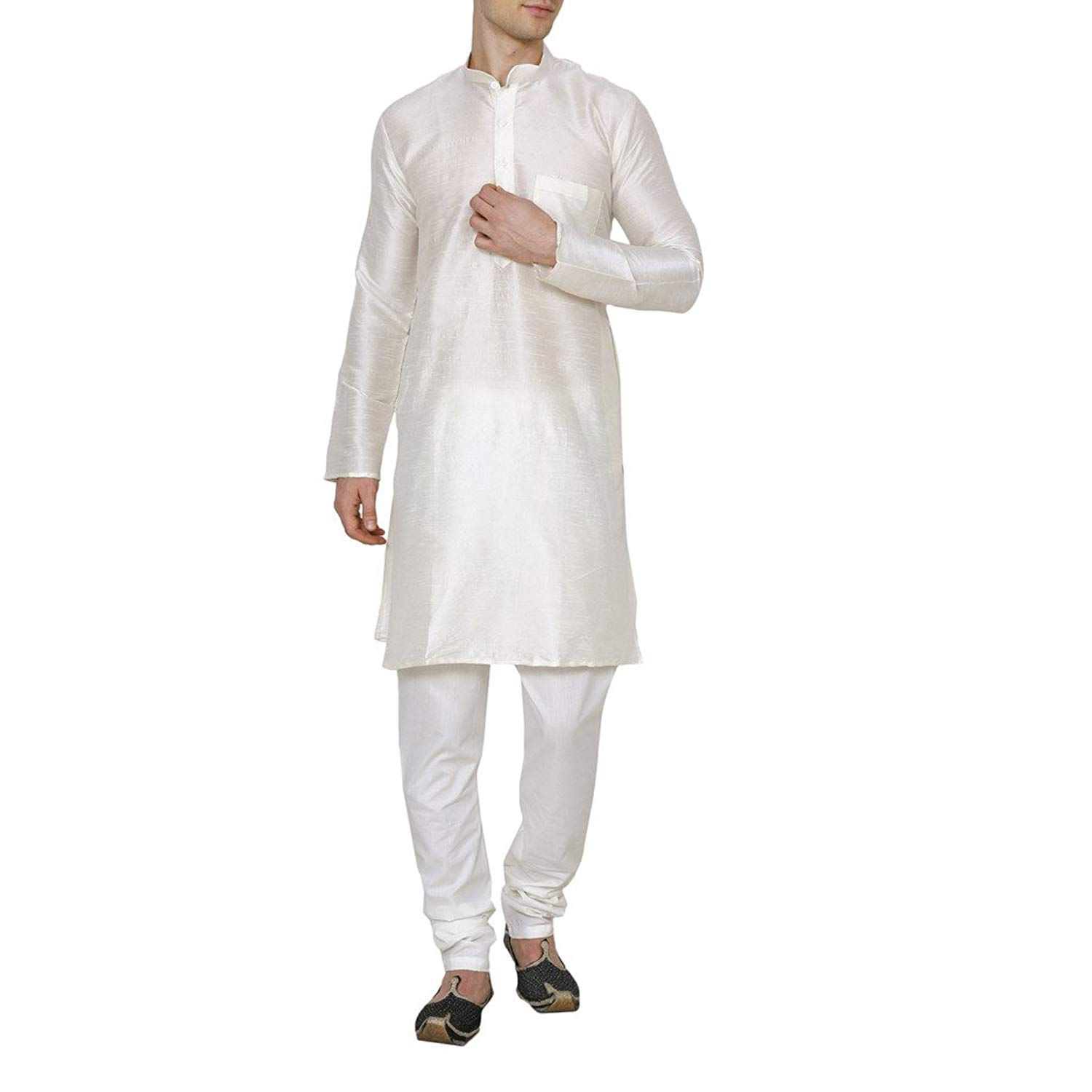 Get Quotations · Royal Kurta Men s Silk Blend Solid Kurta Pyjama cde800dd8