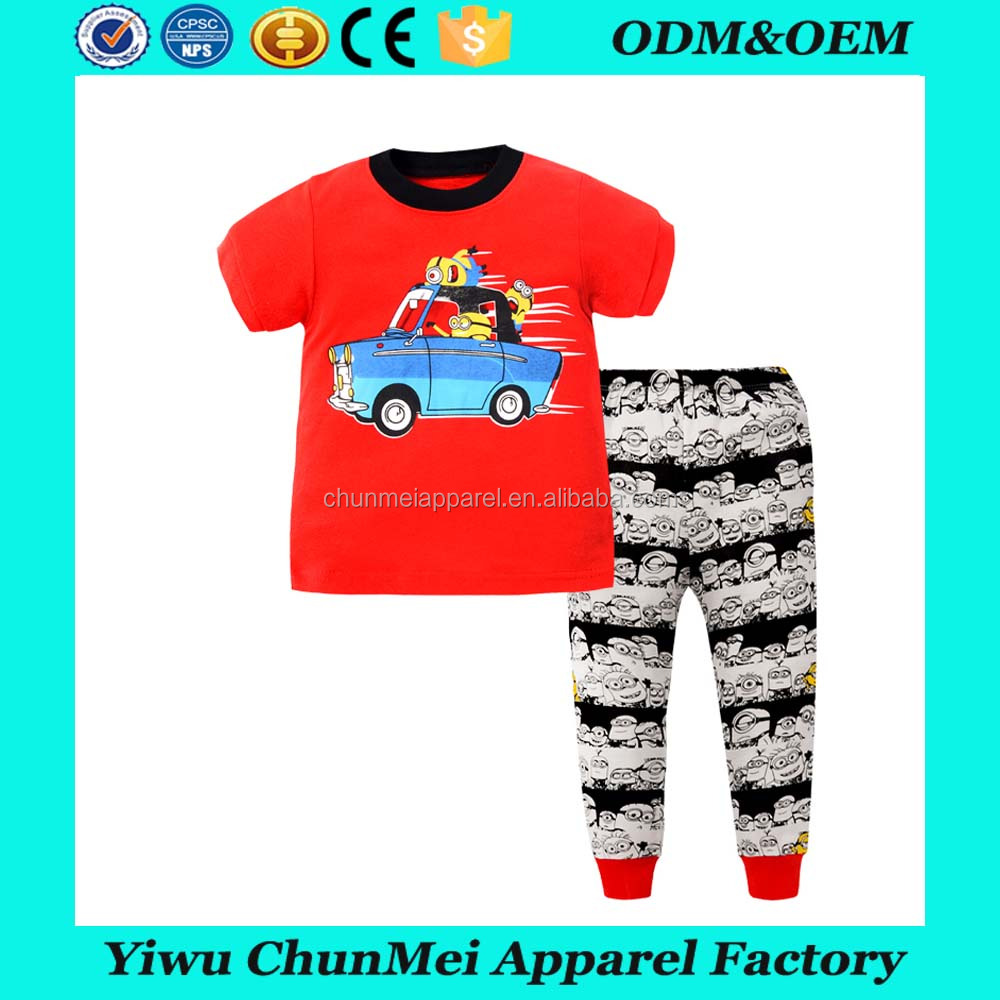 2017 children's clothing 100% cotton soft hand feeling kids clothes suitable sleeping wear boutique lowest price