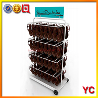 Retail store display floor shoes flipflop slippers display stand Made of metal