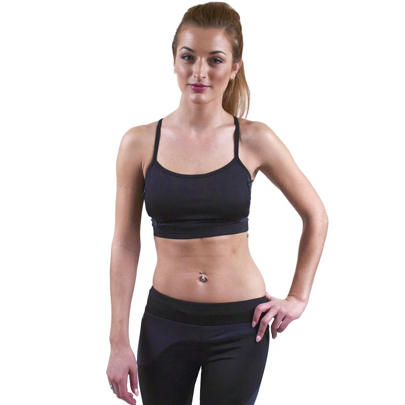 KY 2020 new arrival women polyester spandex pocket sports running bra for cell phone