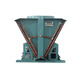 Vertical type evaporative heat exchanger air cooled condenser unit for refrigeration equipment