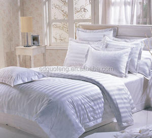 hotel 100% cotton white jacquard bed sheet/flat sheet/jacquard cotton fabric supplier