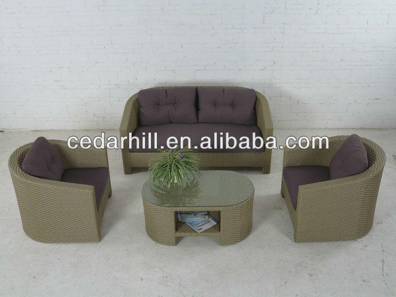 Outdoor muebles de rattan muebles de jard n sof de mimbre for Muebles rattan jardin baratos